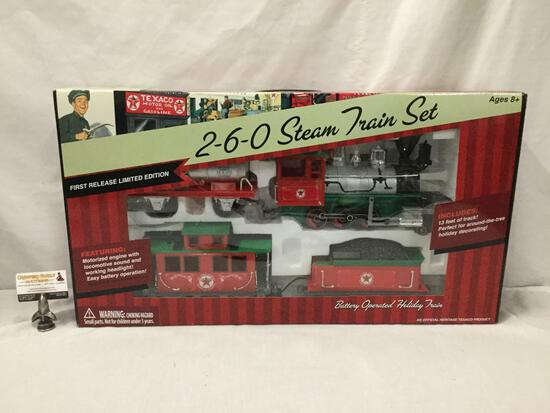 Texaco Petroleum Co Commemorative 2-6-0 Steam Train Car Set - First Release Limited Edition, in box