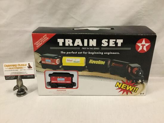 Texaco Wooden collectable Train Set - First in the series - in original box