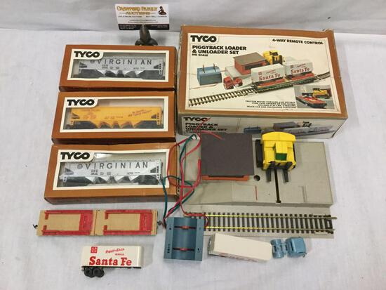 TYCO HO Scale model trains and remote control. 344E Union Pacific Hopper Car and much more