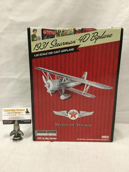 Texaco Wings of Texaco series 1:30 Scale Die Cast model airplane. 1931 Stearman 4D Biplane. In box.