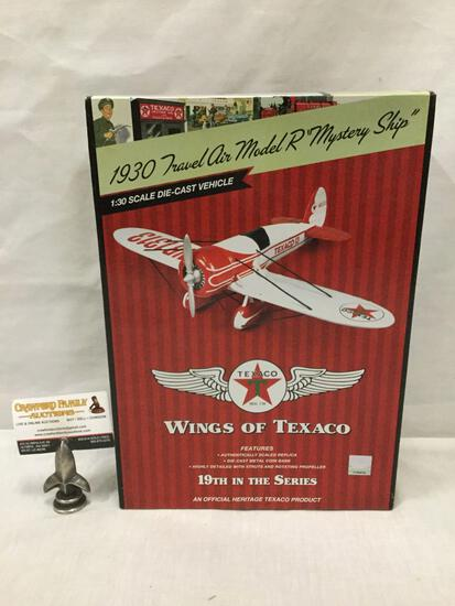 Wings of Texaco series 1:30 Scale Die Cast model airplane. 1930 Travel Air Model R Mystery Ship.