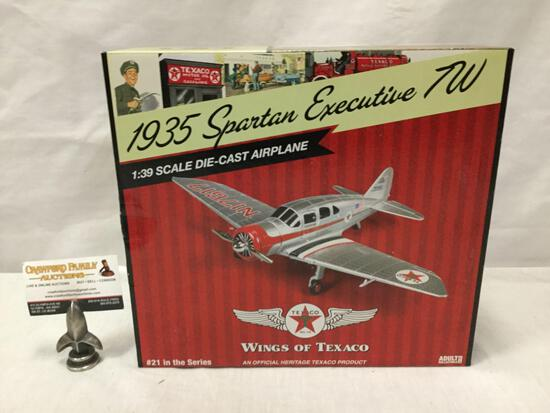 Texaco Wings of Texaco series 1:30 Scale Die Cast model airplane. 1935 Spartan Executive 7W. In box.