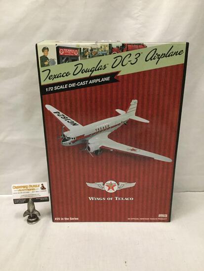 Texaco Wings of Texaco series 1:30 Scale Die Cast model airplane. Douglas DC-3. In original box