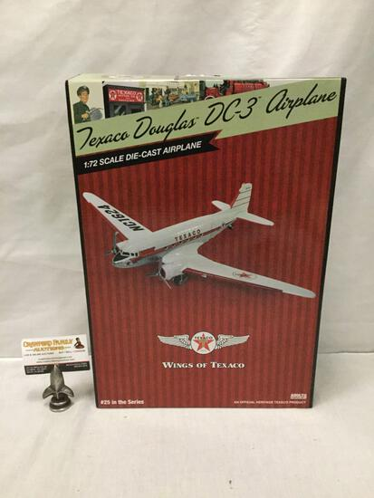Texaco Wings of Texaco series 1:30 Scale Die Cast model airplane. Douglas DC-3. In original box.