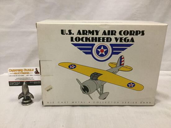 Eastwood Automobilia US Army Air Corps Lockheed Vega die cast model collectors series airplane bank.