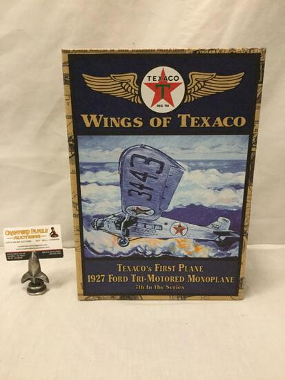 Wings of Texaco series 1:30 Scale Die Cast model airplane. First Plane 1927 Ford Monoplane in box