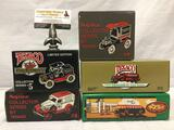 5 ERTL Texaco die cast metal model car banks. 1932 Ford Delivery Van, 1918 Ford Runabout, Doodle Bug