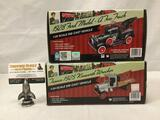 2 Texaco die cast metal cars. 1:25 scale Ford Model A tow truck & 1:34 scale 1925 Kenworth Wrecker