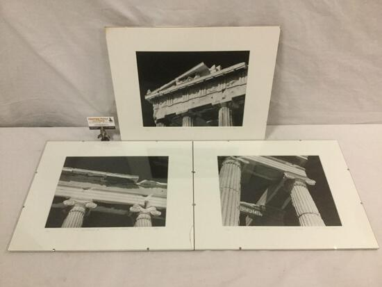 3 pc PF Ellis 1999 photo set of ruins in Athens, Greece signed by that artist