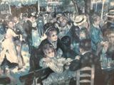 Framed Pierre Auguste Renoir print - Bal du Moulin de la Galette, Montmartre - approx. 30x24 inches