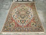 Fantastic colorful Persian style wool area rug with intricate pattern