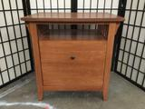 Modern mission style file cabinet with shelf