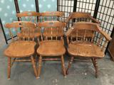 6x vintage wood chairs