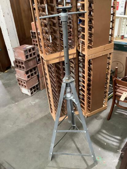 Pittsburgh 2 ton under hoist safety stand, approximately 25 x 68 inches. Needs 2 bolts, sold as is.