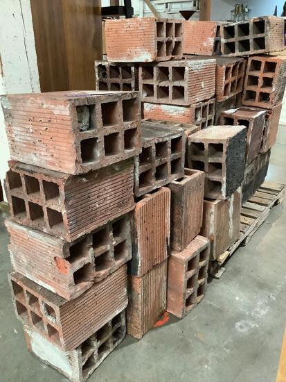 Large collection of over 50 antique bricks, reported to be purchased at Seattle schoolhouse auction