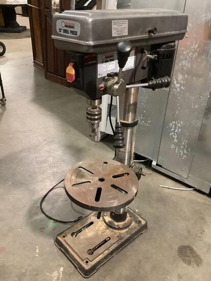 Central Machinery 13 inch electric drill press, model number 38142, tested and working