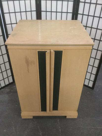 2 shelf storage / media cabinet on wheels.