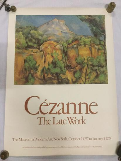"""Cezanne """"The Late Work"""" promotional MOMA advertising print 1978"""