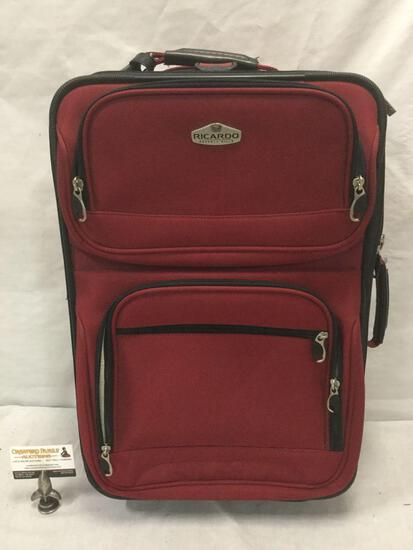 Ricardo brand suitcase luggage piece on wheels