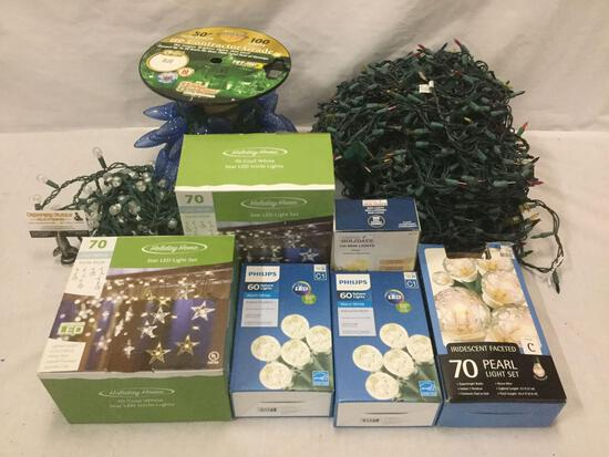 Collection of Christmas light sets. LED , big lot!