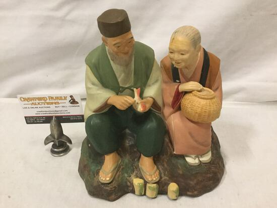 Vintage Hakata Urasaki dolls of fishing couple
