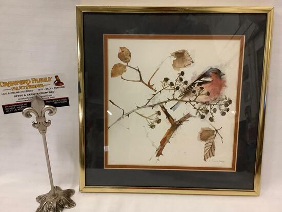 Framed vintage watercolor art print by renowned Danish watercolorist Mads Stage