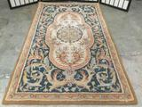 Capel wool area rug with classic pattern / design