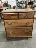 Vintage 3-drawer lowboy dresser, approx. 29 x 30 x 18 inches.