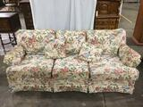 Floral print La-Z-Boy Signature II sofa couch. Approx 84x38x34 inches.
