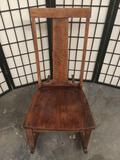 Vintage wood rocking chair, approximately 17 x 29 x 33 inches