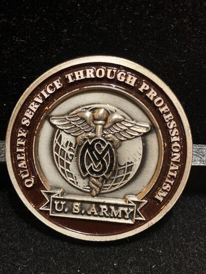 Challenge Coin : Chief Medical Service Corps/ coin of excellence presented by BG R.L. Ursone