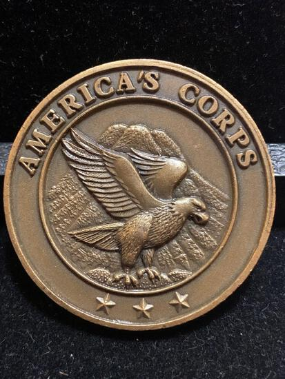 challenge coin: Americas Corps/ Commanders excellence Award