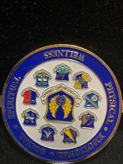 Large Challenge Coin: Presented by the Command Surgeon/ Air Force Material Command