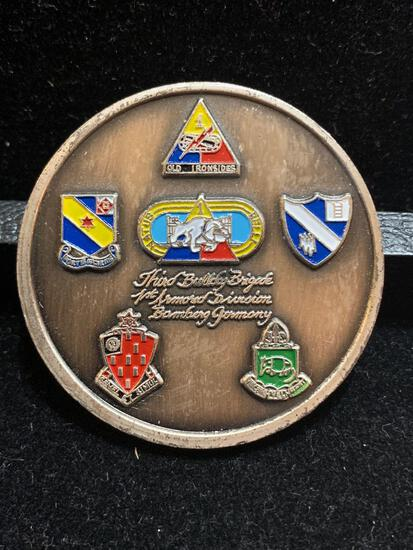 Challenge Coin : North Apennines-Po Valley Rome Arno / Outstanding Performance CDR 3D BDE