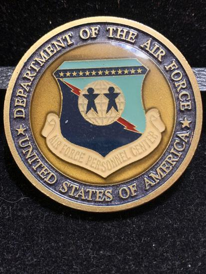 Challenge Coin :Department of the Air Force/USA /responsive to the mission/ Sensitive to the People