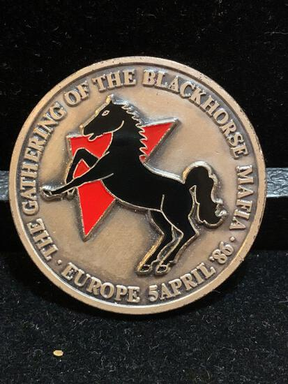Challenge Coin The Gathering of the Black horse Mafia / Europe 4/5/86