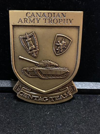 1987 Canadian Army Trophy Centac Team Badge