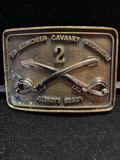 2d Armored Cavalry Regiment Always ready Belt buckle