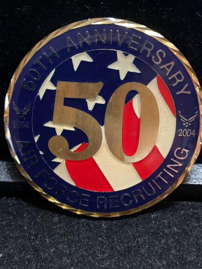 Challenge Coin : 50th Anniversary air force recruiting / 1954-2004