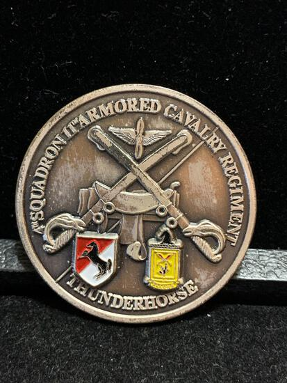 Challenge Coin : Squadron 11th Armored Cavalry regiment / Thunderhorse