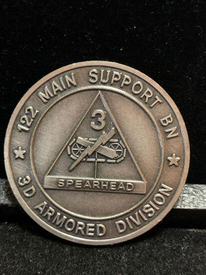 Challenge Coin : 122 Main Support BN/ 3d Armored Division / Total support spearhead