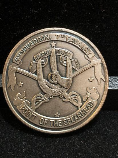 Challenge Coin : 4th Squadron / 7th Calvary / Point of the Spearhead