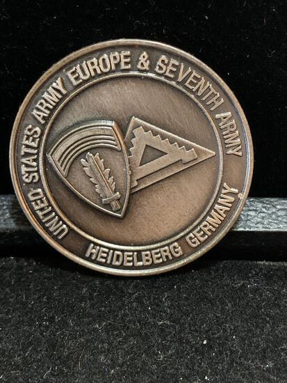 Challenge Coin : US Army Europe and Seventh army Heidelberg Germany