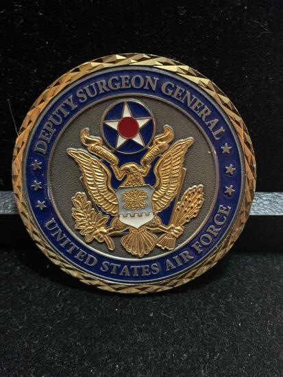 Challenge Coin : Deputy Surgeon General USAF /presented by Brig Gen Byron G, Hepburn MD