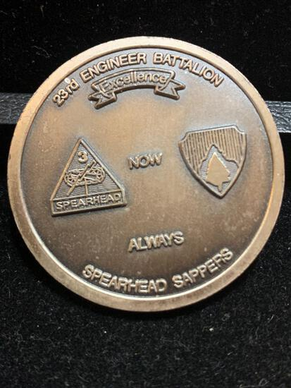 Challenge Coin : 23rd Engineer Battalion Spearhead Sappers