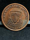 Challenge Coin : 8th Maintenance Battalion -We Forge Ahead- Hanau FRG