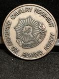 Challenge Coin : 2d Armored Cavalry Regiment / Always ready -Toujours Pret-