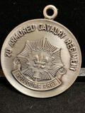 Commemorative medallion / pendant -2d Armored Cavalry Regiment- Toujours Pret- 150th Ann 1836-1986