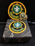 Military Pin / Patch/ and Marble Paper weight -Toujours Pret
