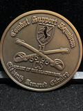 Large Challenge Coin: Combat Support Squadron /Eleventh Armored Cavalry / Heart of the Blackhorse